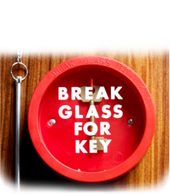 image of break glass for key box