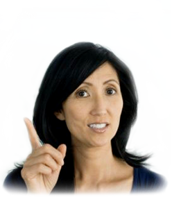 image of woman shaking finger
