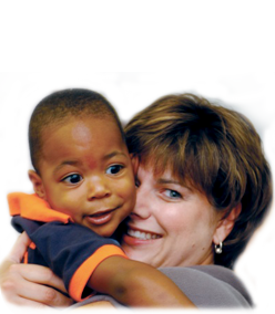 image of woman with child