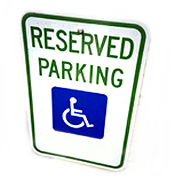 image of parking sign