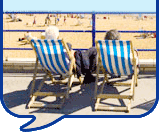 image of people on deckchairs