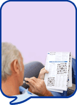 image of man solving puzzle