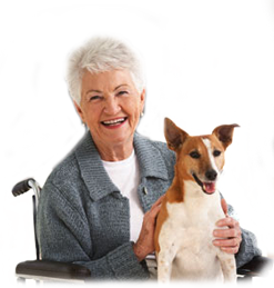 image of woman with dog