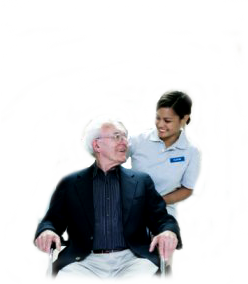 image of nurse and man in wheelchair