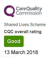 Shared Lives CQC rating March 2018