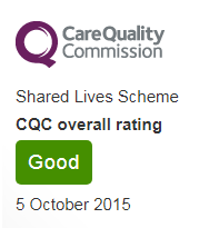 Shared Lives CQC rating October 2015