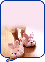 image of pink slippers