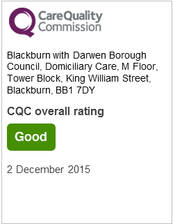 Blackburn with Darwen Borough Council Domiciliary Care CQC rating